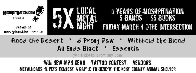 MoshPitNation 5x local metal night 3-4-16