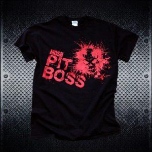 MoshPit Boss Heavy Metal Tshirt - Front