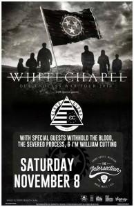 Whitechapel Show Flier 2014