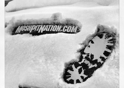 MPN Boot Decals in the snow