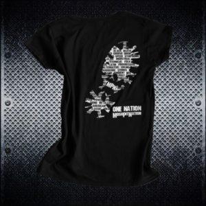 One Nation Tshirt Womens Back